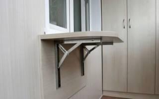Подвесной столик для балкона