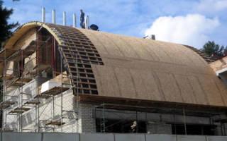 Полукруглая крыша своими руками