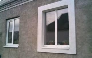 Отделка пластиковых окон снаружи в кирпичном доме