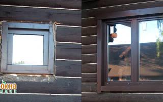Окосячка под пластиковые окна в деревянном доме