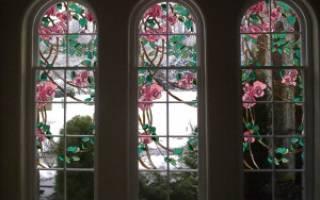 Витражные окна в частном доме