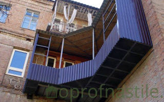 Обшить балкон профлистом своими руками