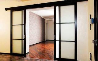 Схема установки раздвижных межкомнатных дверей