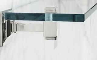 Как прикрепить стеклянную полку к стене?