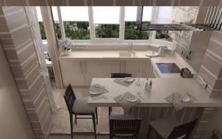 Можно ли на балконе сделать кухню