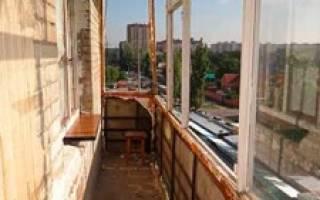 Последовательность ремонта балкона