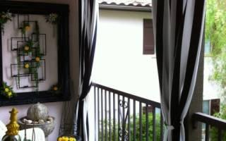 Как сделать шторы на балкон своими руками