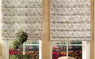 Как крепить римские шторы к стене?