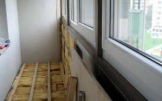 Как поднять и утеплить пол на балконе