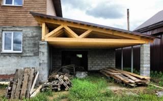 Односкатная крыша пристройки к дому своими руками