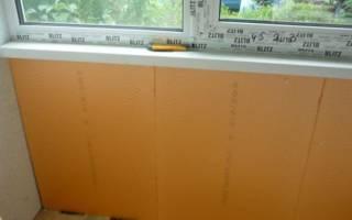 Утепление балкона полистиролом