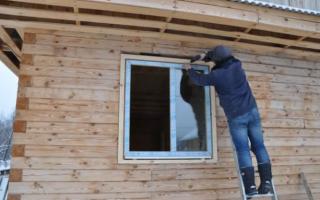 Схема установки пластиковых окон в деревянном доме