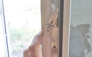 Заклинило ручку пластикового окна в открытом положении