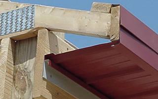 Как подшить карниз крыши профнастилом