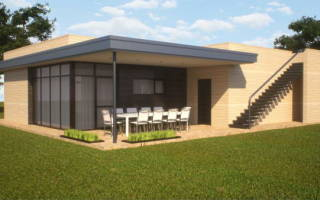Современные одноэтажные дома с плоской крышей проекты