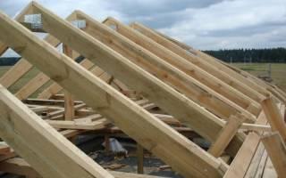Толщина стропил двускатной крыши