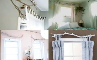 Как можно повесить шторы без карниза