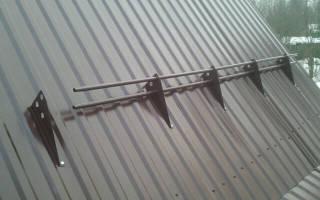 Снегозадержание на крыше из профнастила своими руками
