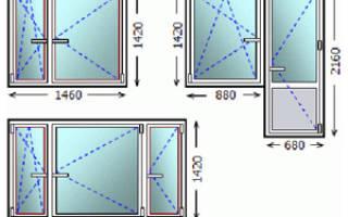 Стандартные размеры пластиковых окон в кирпичном доме