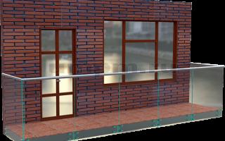Стеклянные перила для балкона