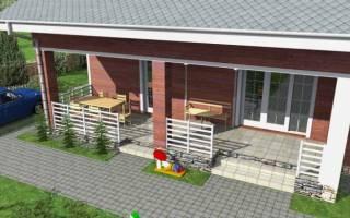 Дом с верандой под одной крышей проекты