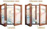 Распашные пластиковые окна без перегородки
